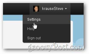 twitter settings option