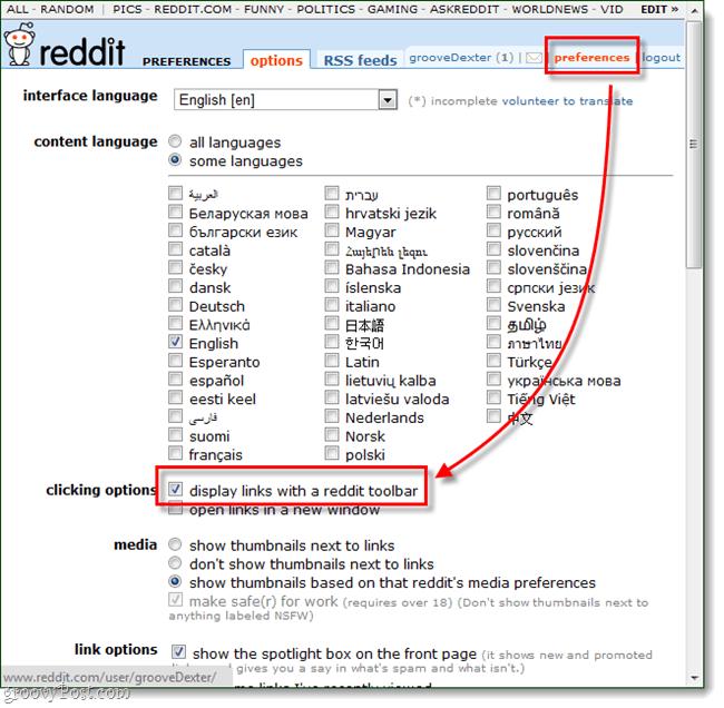 preferences reddit toolbar