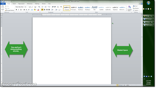 vertical sidebar in microsoft word