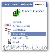 Facebook Privacy Settings Menu