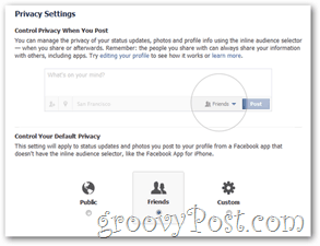Set Default Facebook Privacy Settings