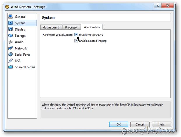 VirtualBox system enable vt-x-amd-v windows 8