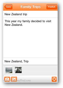 blogger app screenshot