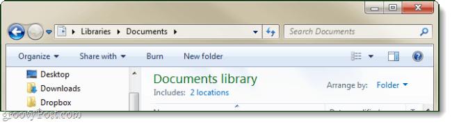 Windows 7 toolbar