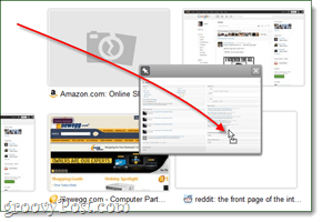 moving most visited thumbnails in google chrome