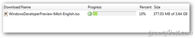 windows 8 download progress