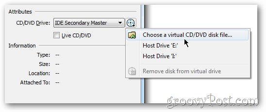 VirtualBox setup iso file windows 8