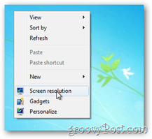 how to change the resolution of windows 8