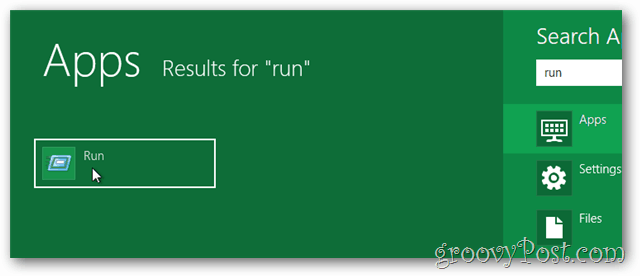 windows 8 run