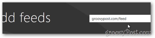 Windows 8 news feed groovypost