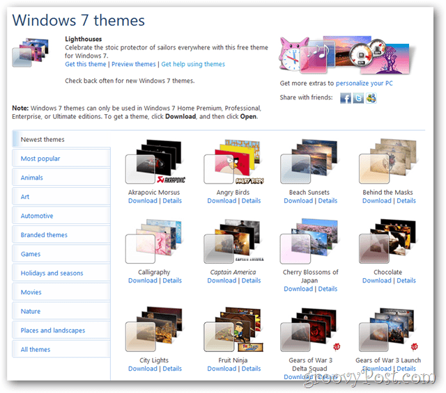 windows 7 themes download