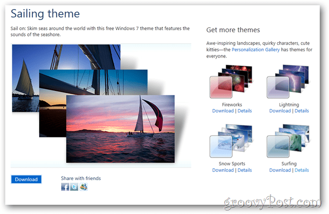 windows 7 free theme sailing