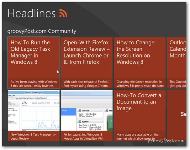 Windows 8 headlines news
