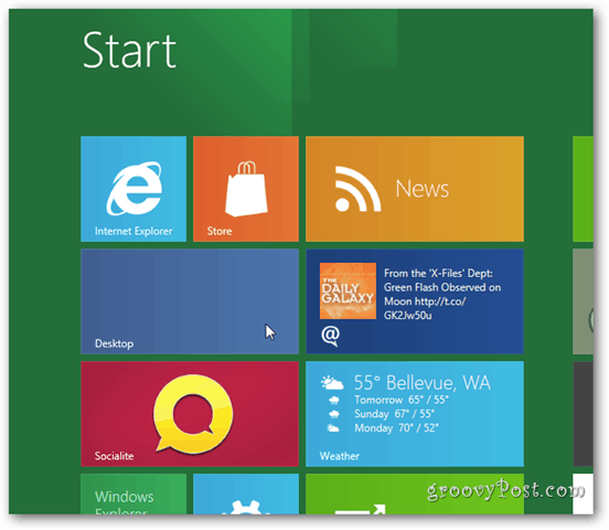 Windows 8 Metro - Launch Desktop