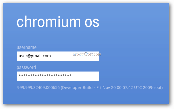 Chrome OS Log in