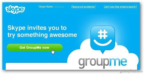 Skype groupme