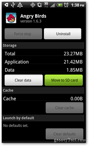 Tap Move to SD card