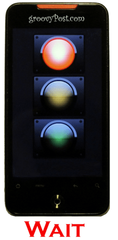 Phone Trafficlight Red