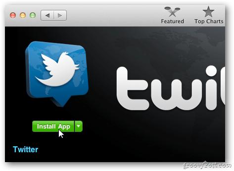 Official OS X Twitter App