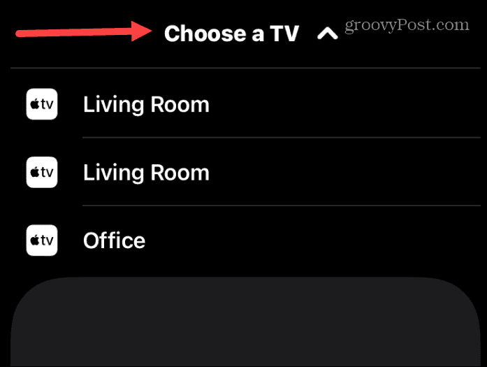 choose TV to control