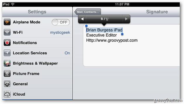 format signature