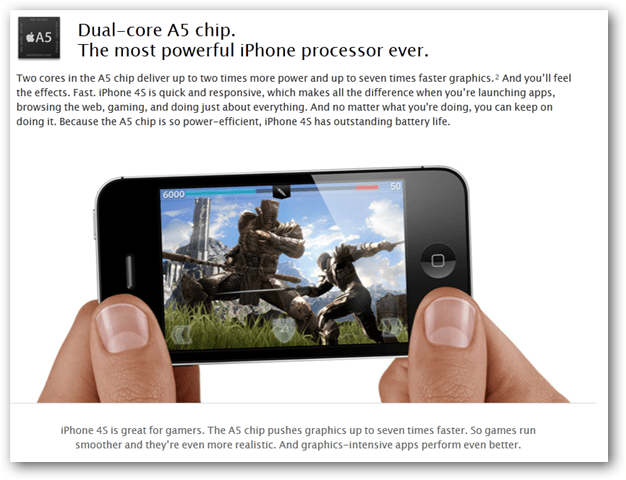 iPhone 4S dual Core Processor