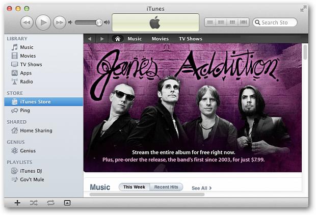 iTunes 10.5 Mac