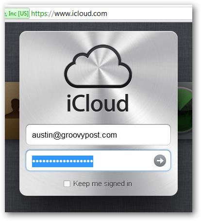login to icloud.com