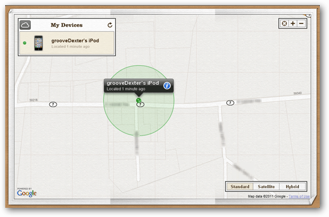 find my ipod, iphone, ipad map
