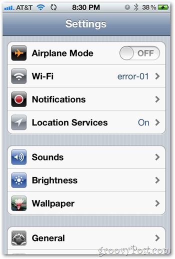 iOS 5 iPhone Settings