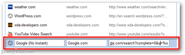 add a search engine to google chrome
