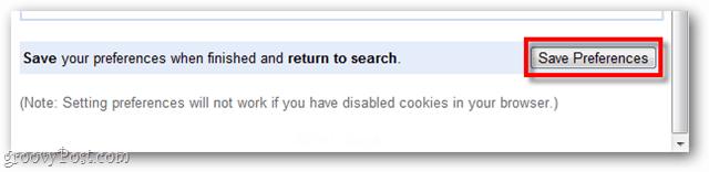 google chrome preferences