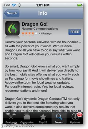 Dragon Go for iOS