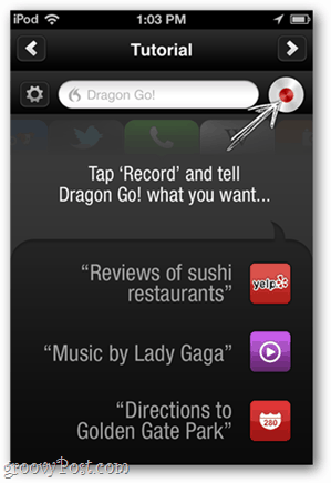 dragon go tabular voice recognition commands
