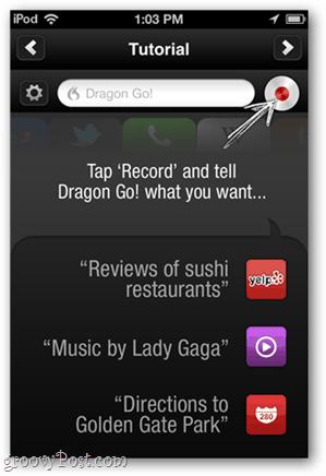 dragon go tabular voice recognition commands