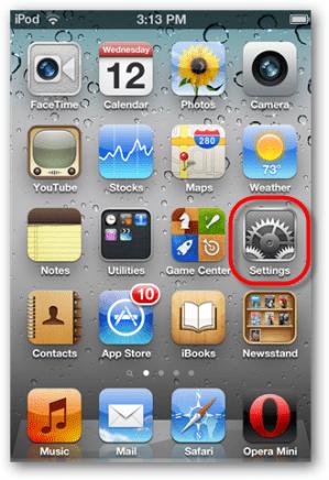 launch ios settings app