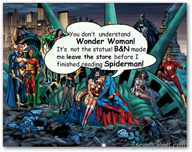 b&n kicking out DC comics