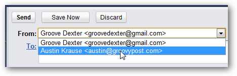 choose address in gmail