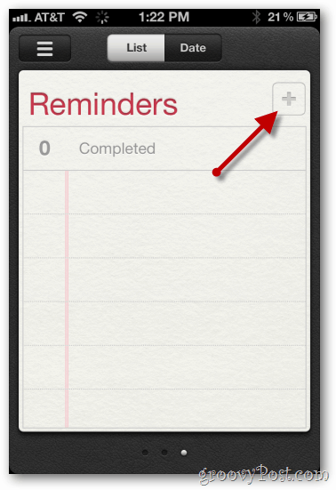iphone ios 5 create new reminder