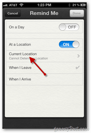 iphone 4 ios 5 at a location enable configure location