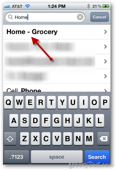 iphone 4 ios 5 reminders select a contact