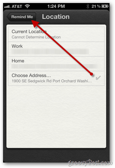 iphone 4s location based reminder