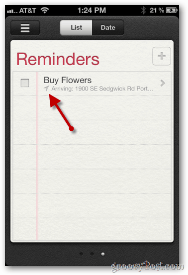 iphone ios 5 location based reminder