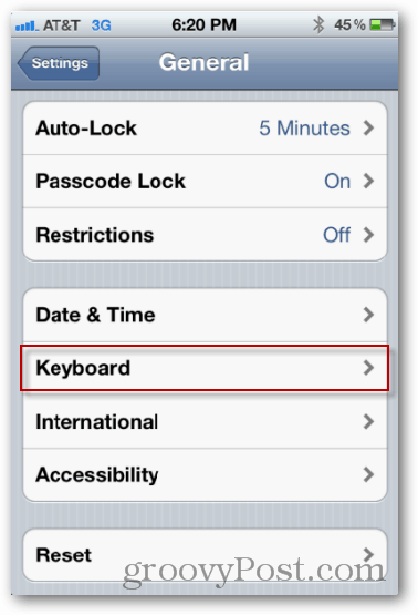 iphone keyboard settings