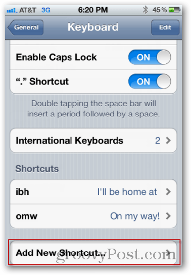add new keyboard shortcut