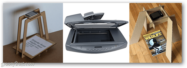 use a scanner or a camera stand to scan documents