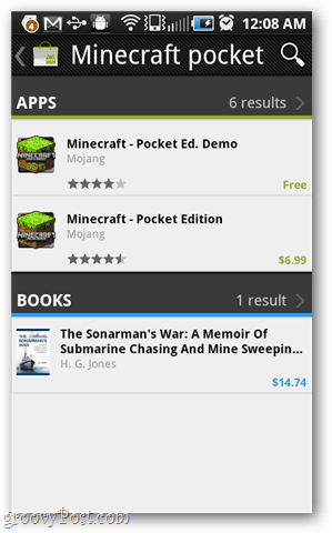 minecraft pocket in the android market