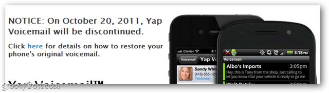 Yap discontinuation notice