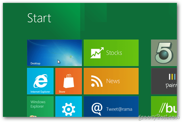 windows 8 tap desktop