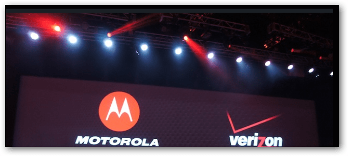 Motorola Verizon Press Event